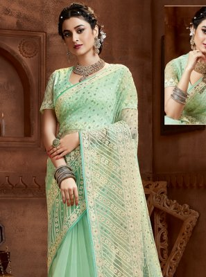 Sea Green Resham Classic Saree
