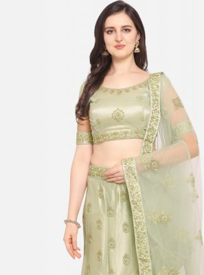 Sea Green Resham Lehenga Choli