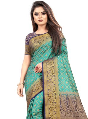 Sea Green Weaving Festival Classic Saree