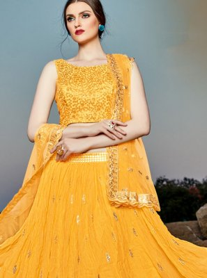 Sequins Party Designer A Line Lehenga Choli