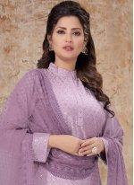 Sequins Purple Designer Salwar Suit