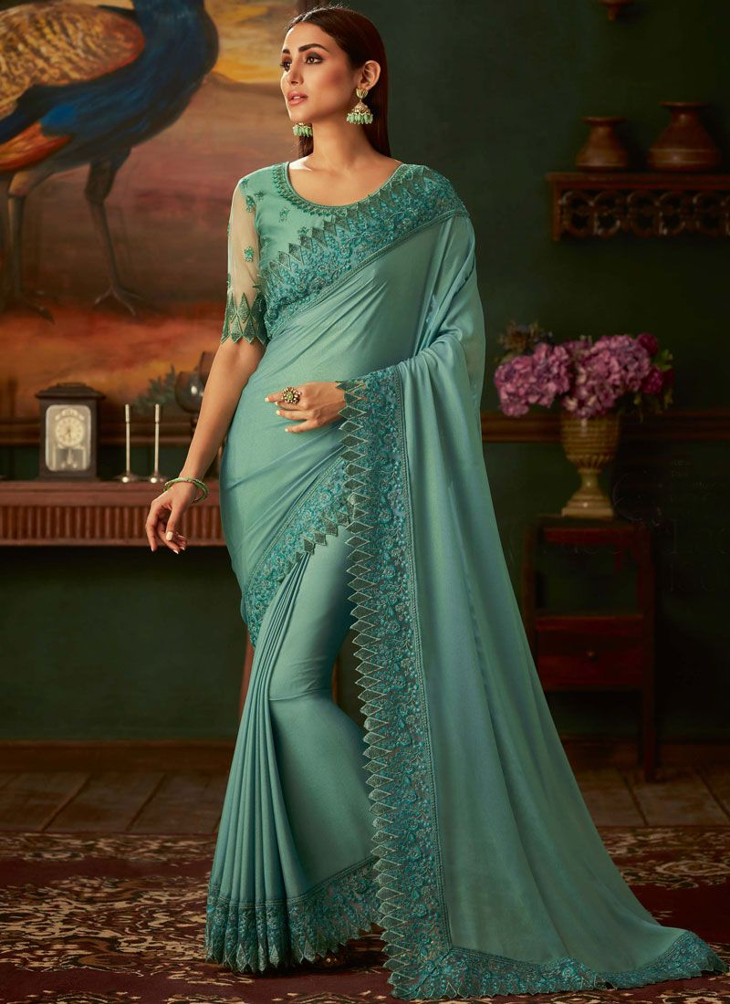 Shimmer Georgette Party Trendy Saree
