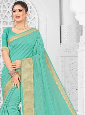 Silk Aqua Blue Traditional Saree