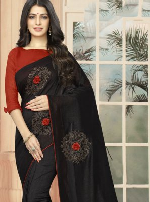 Silk Black Casual Saree