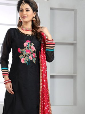 Silk Black Handwork Trendy Salwar Suit