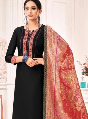 Silk Black Pant Style Suit