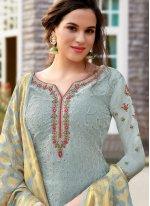 Silk Blue Salwar Suit