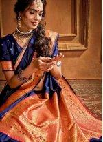 Silk Blue Silk Saree