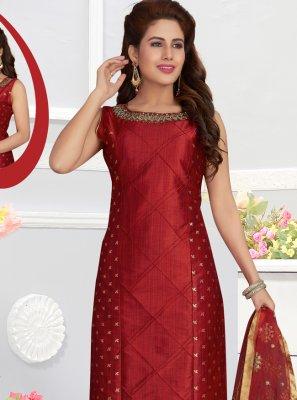 Silk Churidar Salwar Kameez