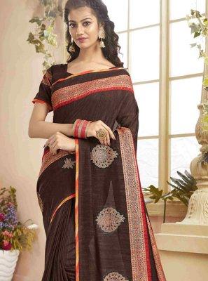 Silk Classic Designer Saree in Brown