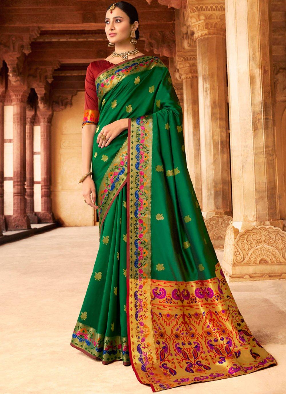 Silk Classic Designer Saree in Green