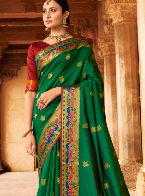 Silk Classic Designer Saree in Green