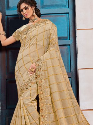Silk Classic Saree in Gold