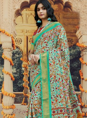 Silk Classic Saree in Multi Colour