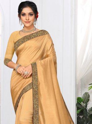 Silk Cream Lace Classic Saree