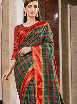 Silk Designer Multi Colour Casual Saree