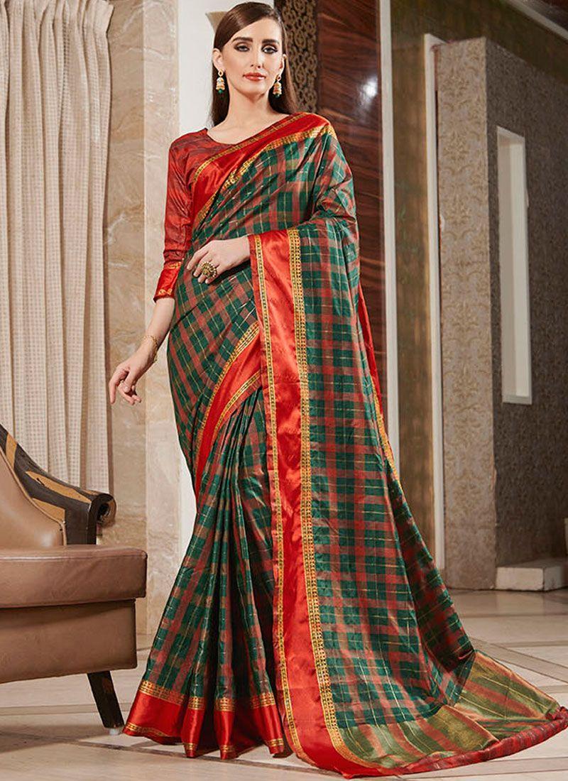 Silk Designer Multi Colour Casual Saree