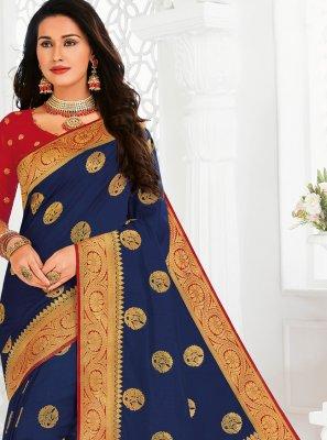 Silk Designer Saree in Blue