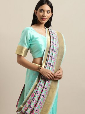 Silk Designer Saree in Green