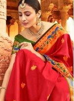 Silk Designer Traditional Saree in Red