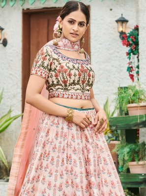 Silk Digital Print A Line Lehenga Choli