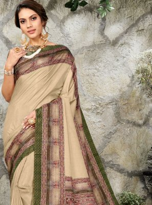 Silk Digital Print Casual Saree in Multi Colour