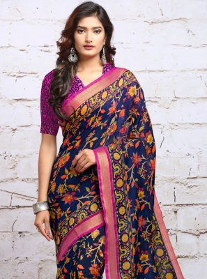 Silk Digital Print Classic Saree
