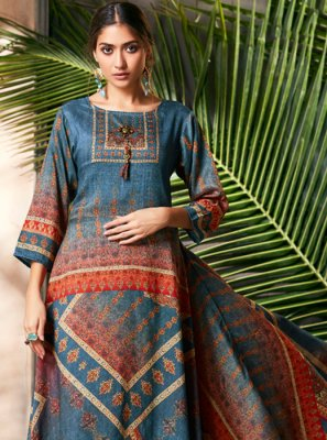 Silk Digital Print Designer Gown