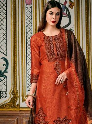 Silk Digital Print Designer Salwar Suit