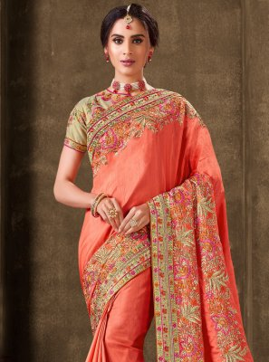 Silk Embroidered Bollywood Saree