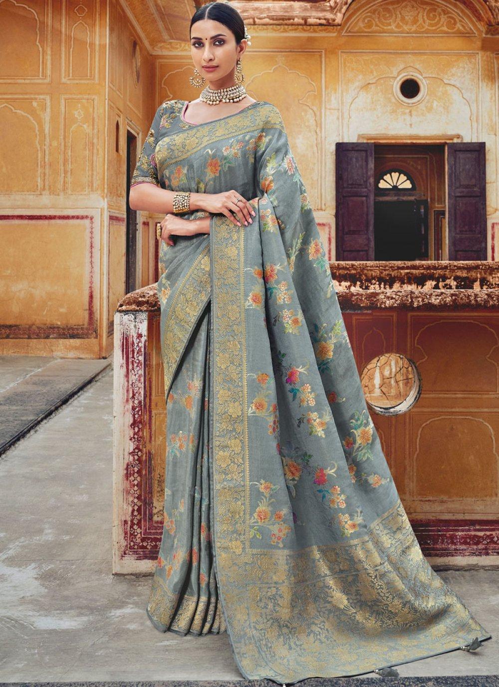 Silk Embroidered Classic Designer Saree