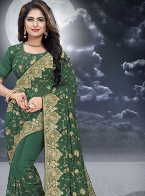 Silk Embroidered Classic Designer Saree