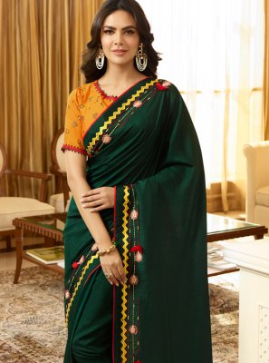 Silk Embroidered Classic Saree