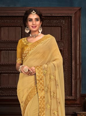Silk Embroidered Gold Contemporary Saree