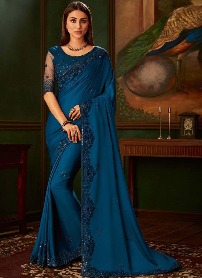 Silk Embroidered Silk Saree
