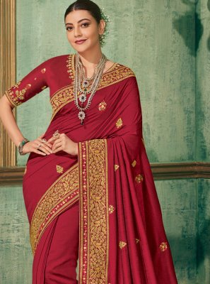 Silk Embroidered Silk Saree