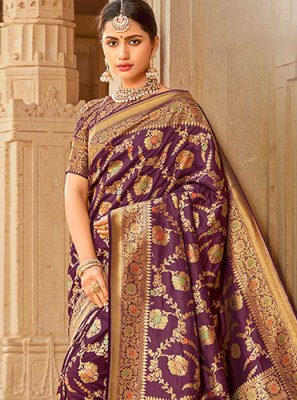 Silk Embroidered Traditional Saree
