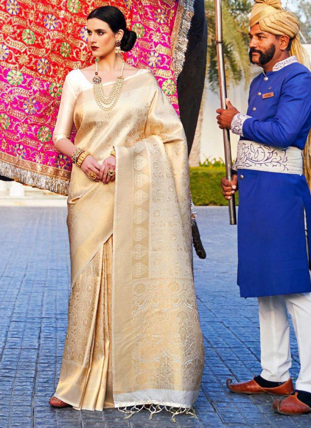 Silk Gold Weaving Classic Designer Saree