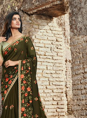 Silk Green Classic Saree