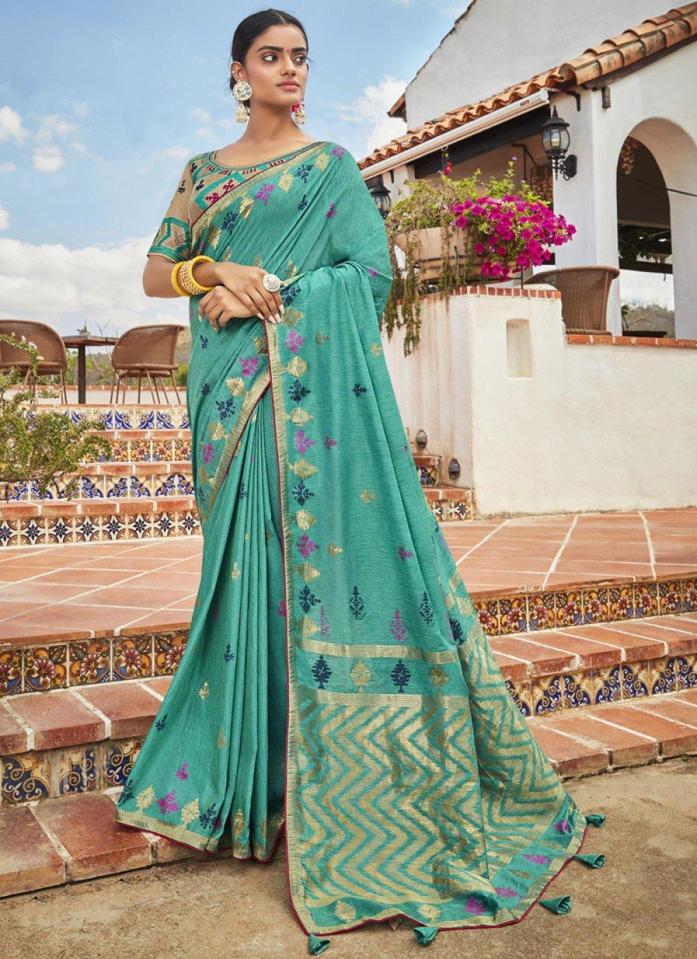 Silk Green Classic Saree