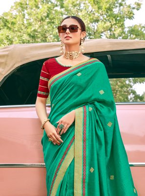 Silk Green Contemporary Saree