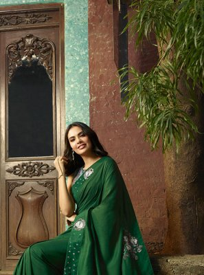 Silk Green Designer Saree