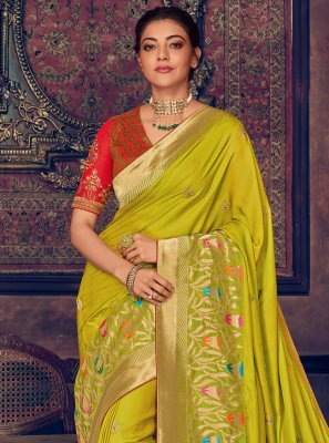Silk Green Saree