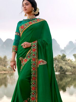 Silk Green Silk Saree