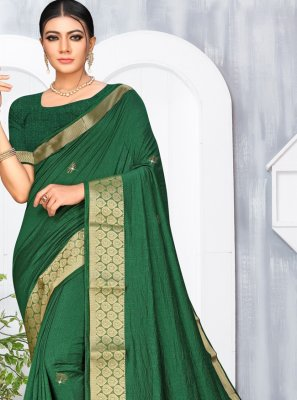 Silk Green Stone Classic Saree