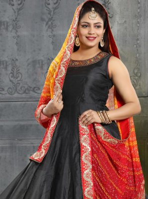 Silk Handwork Trendy Gown
