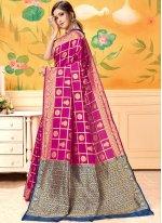 Silk Hot Pink Silk Saree