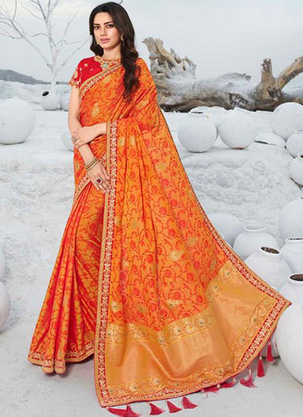 Silk Lace Designer Saree