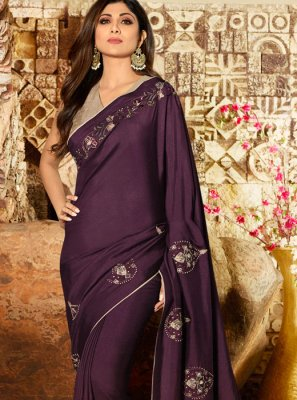 Silk Lavender Trendy Saree