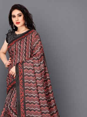 Silk Maroon Contemporary Saree
